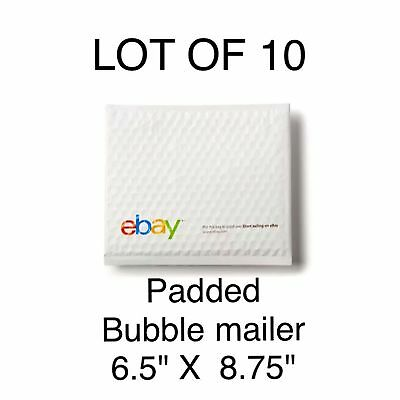 "LOT 10 eBay Branded Padded Envelopes Airjacket  6.5"" x 8.75"" POLY BUBBLE MAILER"