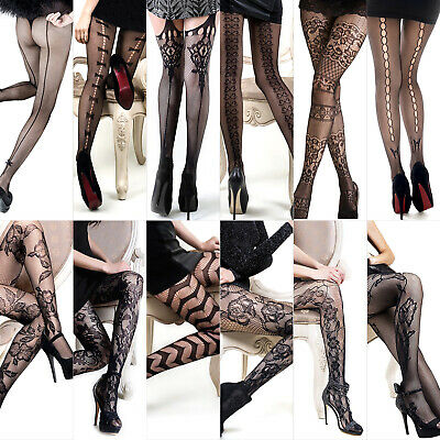 Women One Size Plus Size Sexy Lingerie Fishnet Thigh High Lace Garter Stocking