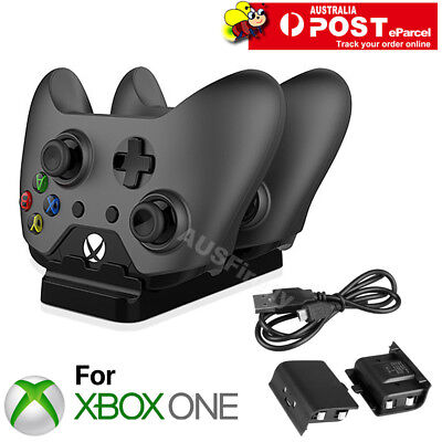 Dual Controller Charger Dock 2 Batteries Charging Station for Xbox One / S / X