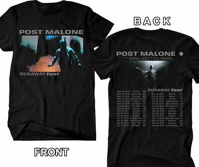 POST MALONE t-shirt Runaway Tour 2019, Hip Hop RnB Rap Music T-shirt S-4XL