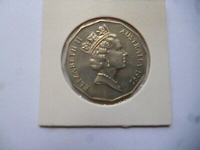 1992  Australian 50 cents UNCICULATED SPECIMEN coin Taken from Mint Set