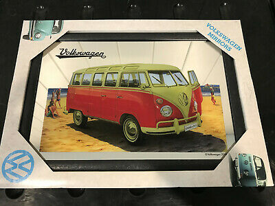 Volkswagen Bulli Samba Beach Bus Mirror NA80732 Man Cave Shed Whisky Bar VW