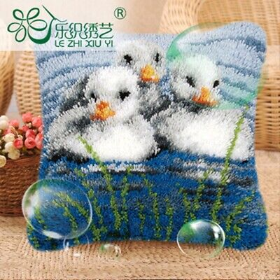 Cushion Cover Animals Making Kits Latch Hook Rug For Adults Beginners Embroidery
