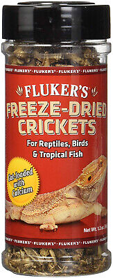 Flukers Freeze-Dried Crickets for Reptiles Tropical Fish Birds Hedgehogs 1.6 oz