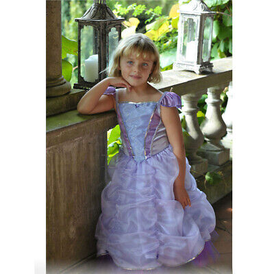 Girls Kids Princess Violet Fairy Tale Book Week Party Fancy Dress Costume Outfit