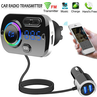 Wireless Bluetooth 5.0 Handsfree Car Radio FM Transmitter MP3 Player USB Charger