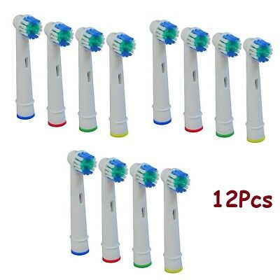 12 Replacement heads Toothbrush for Oral B Braun Models Floss Action Pro white