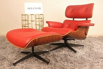 Stupendous Top Grain Leather Mid Century Lounge Chair Ottoman Eames Gmtry Best Dining Table And Chair Ideas Images Gmtryco