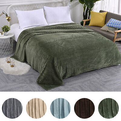 Soft Micro Plush Flannel Fleece Throw Blanket  Sofa Bedding 40*60/60*78inch