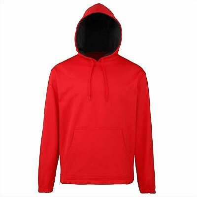 Rhino Teamwear Rugby Men's Core Hoodie - Small - Red - New