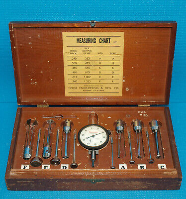 """TIPLOR GROOVE GAGE SET .240-1.252"""" RANGE with STARRETT DIAL INDICATOR"""