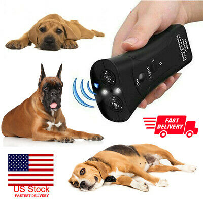 Ultrasonic LED Dog Stop Barking Train Repeller Control Trainer Anti Bark Device