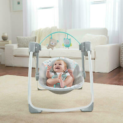 Ingenuity Comfort to Go Baby/Newborn Portable Swing Seat/Chair w/Lullaby/Toys