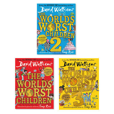 World's Worst Children by David Walliams NEW 3 Book Collection (RRP £44.97)