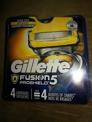 Gillette Fusion 5 Proshield  4-Pack Cartridges-2 For $20