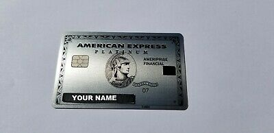Custom Name - American Express Platinum Ameriprise - Metal Card - International