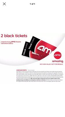 AMC Theatres 2 Black Tickets Movie E-Ticket Fast Delivery no expiration