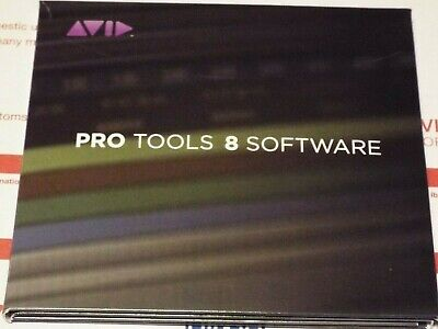 Avid Pro Tools 8 Le DVD Pack for Windows 10 and 7, older Mac 10.6.8, Mac 10.8.5