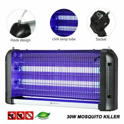 30W Industrial Electric Fly Insect Bug Pest Mosquito Killer Zapper Trap UV Light