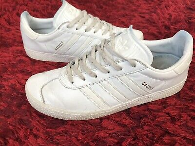 Details about Adidas Gazelle W Size 6 US Womens Grey White CQ2178 Leather Suede