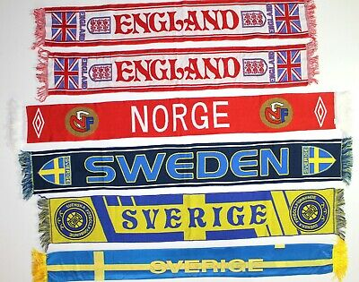 Sweden Scarf England Norway National Football Scarves Norge Sverige Retro Soccer