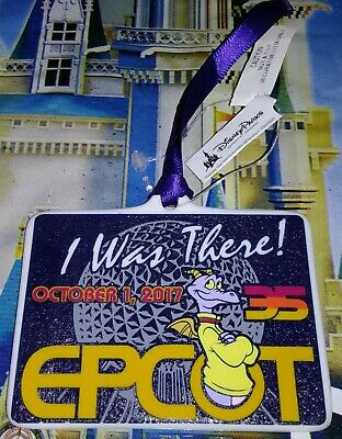 2017 Disney Parks Epcot 35th Anniversary I Was There Figment Ornament New