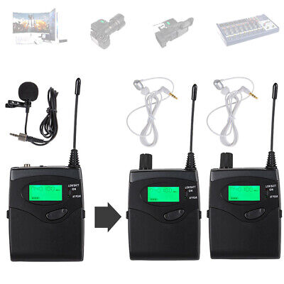 UHF Wireless Lavalier Microphone 2 Receivers for Camcorder DSLR Camera PC Phone