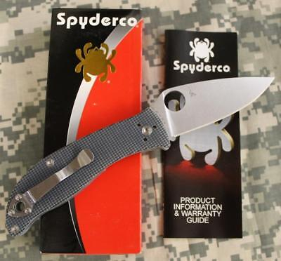 Spyderco C220GPGY Polestar Gray G-10 Scales & CTS BD1 Stainless Steel Blade NEW