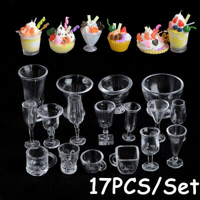 Figurines Toys Goblets Model Miniatures Tableware Ice Cream cup Kitchenware