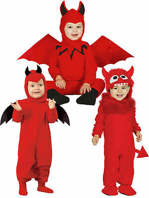 Baby Toddler Devil Costume Boys Girls Halloween Monster Fancy Dress Kids Outfit