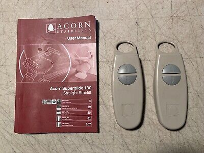 Acorn Superglide 130 Remotes With Instruction Manual