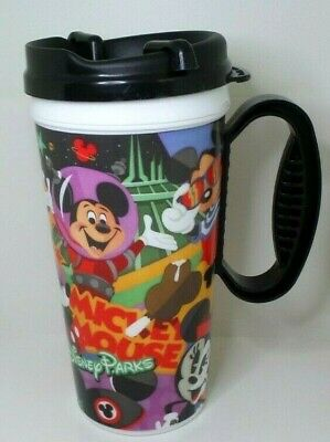2019 Disney Parks Mickey & Minnie Mouse Refillable Mug Cup Souvenir