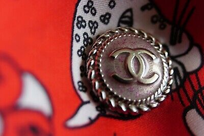 💞💔💝💓💕❣💖💗❤💋💚CHANEL BUTTON 1  pieces  SIZE 17  MM 0,7 INCH LOGO CC METAL