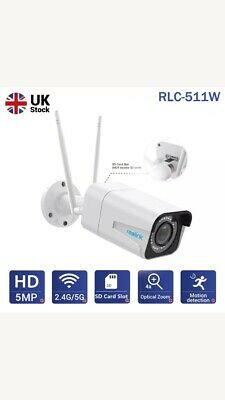 Reolink 5MP Wireless Wifi Security Camera Autofocus 4X Optical Zoom Bullet 511W