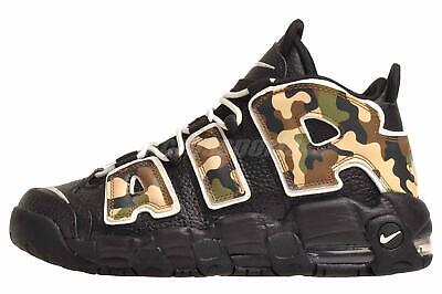 Nike Air More Uptempo QS GS Running Kids Youth Shoes Black Sail CJ0930-001
