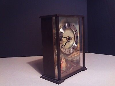 MATTHEW NORMAN SWISS MADE BRASS QUARTZ SHELF CLOCK 1800s ART FACE RARE VINTAGE
