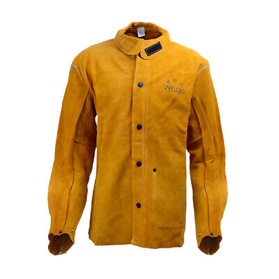 Protective Welding Jacket Breathable Cowhide Insulated Safety Clothing