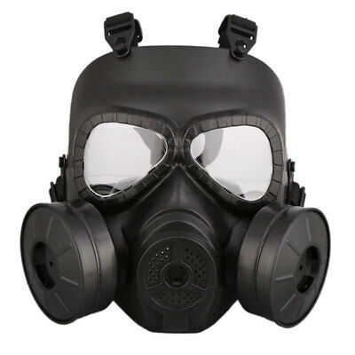 CS Edition Gas Mask Double Filter Fan Perspiration Dust Eye Protect Face Guard