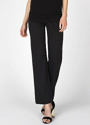 Supermom - Basic Black Maternity Pregnancy Work Straight Leg Pants Trousers