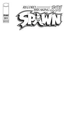 Spawn #301 Blank Sketch Variant Cover Image Comics Al Simmons