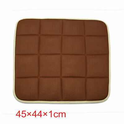 Coffee Color Square Shape Bamboo Charcoal Filled Car Auto Seat Cushion Mat Cover
