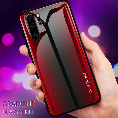 Slim Gradient Tempered Glass Hard Case Cover for Huawei P20 Lite/P30 Pro Mate 20