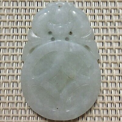 Old Chinese Natural Jade Jadeite Pendant, Delicate Small Pendant, China.