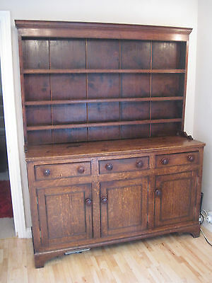 Early 19th c. North Wales style dresser great mellow oak patination