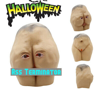 Halloween Costum Party Mask Latex Butt Head Adult Ass Accessory Prop Cos Gift