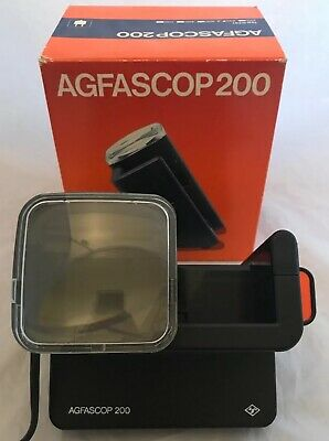 Vintage Agfascop 200 Illuminated 35mm Photo Slide Viewer Mains Operated Working