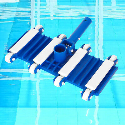 Wheeled For Swimming Pool Vacuum Head With Brush Durable Pond Powerful Flexible