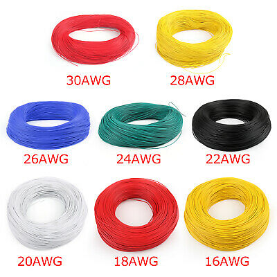 Flexible Stranded UL1007 16AWG~30AWG Électronique Wire PVC Câble 300V ROHs B New