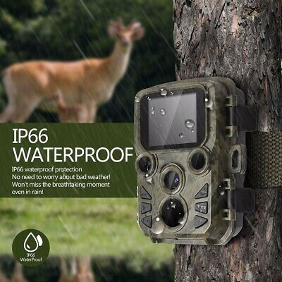 12MP Trail Camera IP66 Waterproof Outdoor Hunting Cam with IR Led Night Vision A