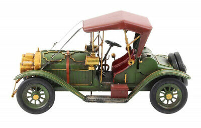 Tin model of a classic old-timer vintage car antique style 33cm. aubaho